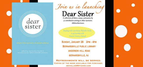 Dear Sister Event Flyer New Jersey